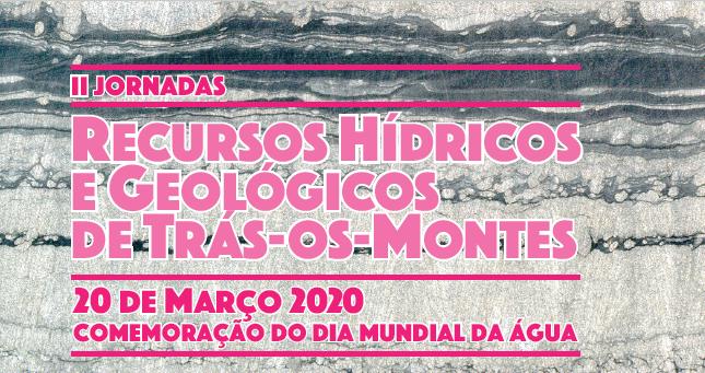 Capa das II Jornadas dos Recursos Hídricos e Geológicos do Alto Tâmega