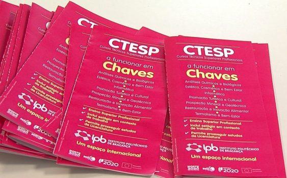Folheto da oferta educativo do IPB em termos de cursos CTeSP
