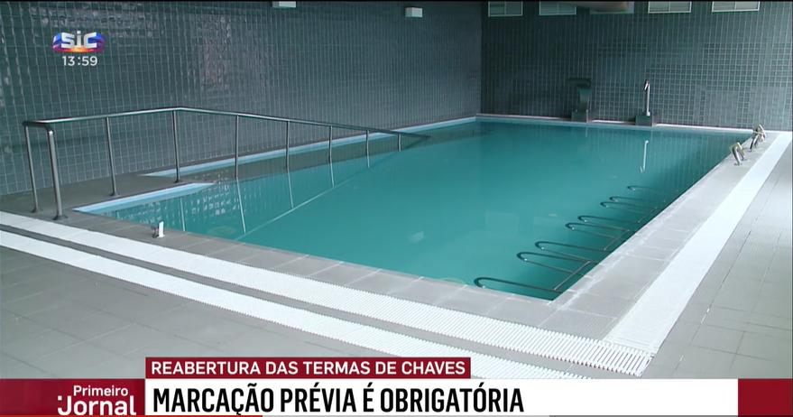 Reportagem da SIC sobre a reabertura das Termas de Chaves após a pandemia COVID-19